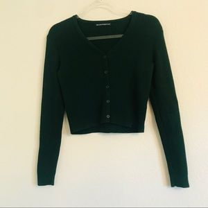 Brandy Melville dark green cardigan sweater